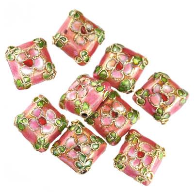 Cloisonne kussen roze, 9 stuks