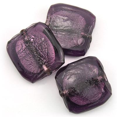 Groot vierkant paars, 3 stuks