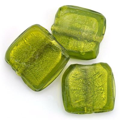 Groot vierkant groen, 3 stuks