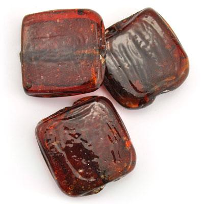 Groot vierkant rood, 3 stuks