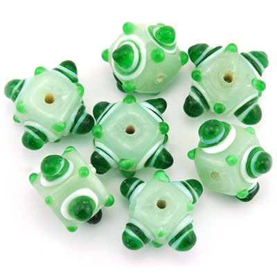 Kubus opaque mint/groen, 7 stuks