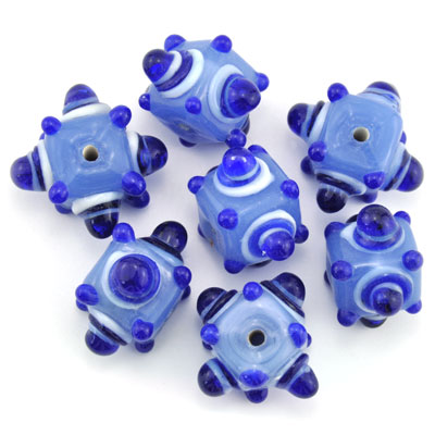 Kubus opaque lichtblauw, 7 stuks
