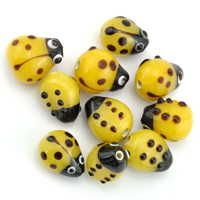 Lieveheersbeest geel, 16 stuks