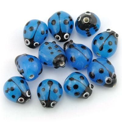 Lieveheersbeest blauw, 16 stuks