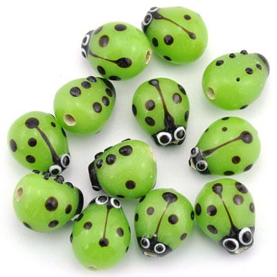Lieveheersbeest groen, 16 stuks