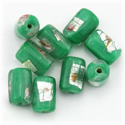 Tube groen/zilver, 15 stuks