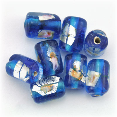Tube blauw/zilver, 15 stuks