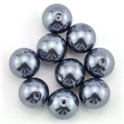 Parels grijsblauw, 12 stuks
